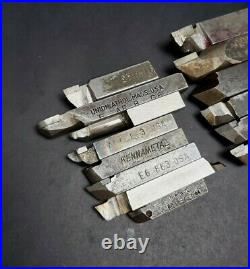 14pc HSS Cobalt & Carbide Tool Bit Lot Sandvik Kennametal Blank Machinist Lathe