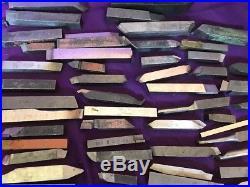 175 PC Lot Used Lathe Tool Bits Mo Max Rex HSS Cobalt Machinist Tools