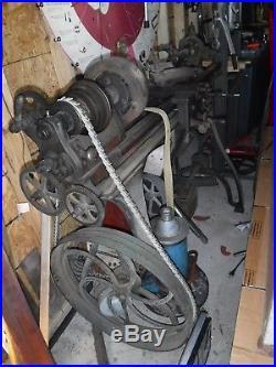 1890's Seneca Falls Star Treadle Metal Lathe pedal Machinist belt driven video
