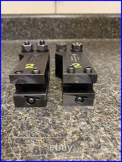 2 Hardinge CC-15 Wedge-Type Machinist Lathe Turret Extension Tool Holders
