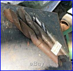 3pc Morse Taper 5 Drill Bit Lot Machinist Radial Drilling Lathe Mill Tool