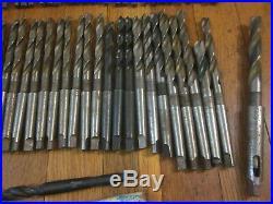 72 Morse Taper 1 MT MT1 Twist Drill Tool Set Machinist Lathe Mill CNC Many NOS
