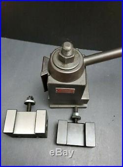 ALORIS CXA Wedge Tool Post & 2 Quick Change Tool Holders Machinist Lathe DTM