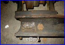 Antique 1800's P. Blaisdell Worcester Mass. Wood Lathe Machinist Metal Lathe