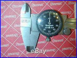 Caliper Starrett 120A- 6 Black Dial Mill Lathe Machinist Tool