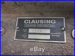 Clausing 5900 Lathe Cross Slide w Nut No 7146 704-042 Machinist Lathe Mill Tool