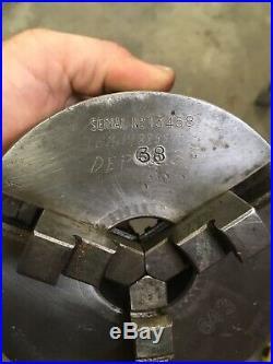 HARDINGE 5 3 JAW METAL LATHE CHUCK with 2-3/16-10 THREADED MOUNT Machinist Tool