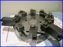 Hardinge Lathe Chucker Turret Top Plate 8 Station With9 Holders Machinist tools