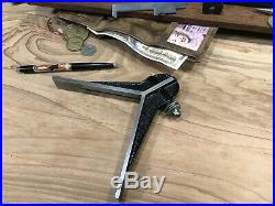 Huge #8 Antique Starrett Center Finder Head Hand Tool Machinist Woodwork Lathe