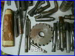 Huge Lot Vintage Machinist tools Mill lathe Cutters Bits Knurling 50 pounds USA