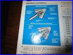 Ideal USA MT 3 Live Center Metal Lathe Machinist Tool Bull Nose 49-513, 4 Dia