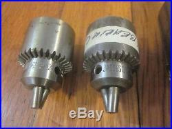 Jacobs Chuck Lot 6A MT2 33 Taper 34 2B 7B 2x 1A 2A Machinist Lathe Mill Tool Set
