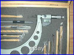 Large Electronic IP65 Digital Micrometer Set SPI 6-12 Mill Lathe Machinist Tool