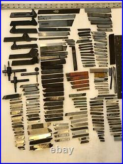 Large Lot Machinists Lathe Cutting Tools/Holders/Wrenches Various Sizes 185 Pcs