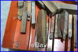 Lathe Tooling Arbor Machinist Kit Lot Carbide Cutting-Over Machine Chest #554