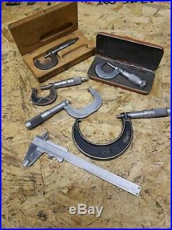 Lot Starrett Brown Sharpe Micrometer Caliper Vernier Machinist Lathe Mill Tools
