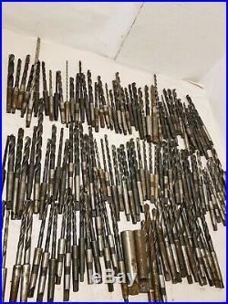 Lot of 100+ Morse Taper Shank Drill Bits Lathe Machinist MT2 MT1