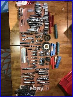 Lot of Machinist Tools Cutters Drill Mills HSS Carbide Taps Loaded Lathe Etc
