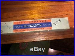 MACHINIST LATHE MILL 10 UNUSED 6 1/4 Nicholson XF Die Sinkers Rifflers Files
