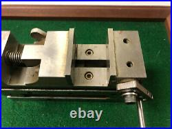 MACHINIST LATHE MILL. Adjustable Angle Pecision Ground Sine Vise 2 OfCe FrBk