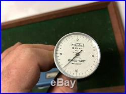 MACHINIST LATHE MILL Fowler Swiss Made Dial Indicator Gage Girod Tast. 0005 DrZa