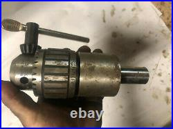 MACHINIST LATHE MILL Jacobs Ball Bearing Drill Chuck &Tapping Attachment JwCb