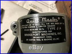 MACHINIST LATHE MILL Machinist Bridgeport Quill Master Attachment in Box OfCe