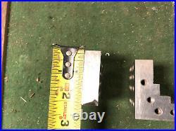 MACHINIST LATHE MILL Machinist Pair of Precision Ground Step Blocks Plates DrKm