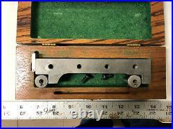 MACHINIST LATHE MILL Machinist Precision Sine Bar Block Set Up in Case GrnCb
