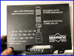 MACHINIST LATHE MILL Machinist Set of Mayhew Hollow Punches # 6600 ShA