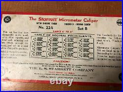 MACHINIST LATHE MILL Machinist Starrett 224 Set B 6 9 Micrometer Set OkCb