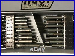 MACHINIST LATHE MILL Machinist Tri Fold Huot Drill Index Full of Drills JwCb