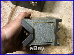 MACHINIST LATHE MILL NICE Carl Mahr Germany Magnetic V Block in Case ShX