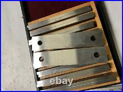 MACHINIST LATHE MILL Precision Ground Parallel Blocks In Wood Holder DrNt
