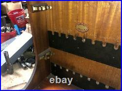 MACHINIST LATHE MILL RARE Moore Tools Advertising Jig Bore Tool Wood Case