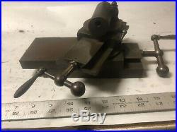 MACHINIST LATHE MILL RARE Rivett Lathe Cross Slide Unusual Tool Holder ShX