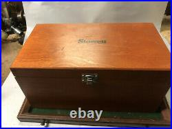 MACHINIST LATHE MILL Starrett 0 6 Number 436 Micrometer Set Wood Case
