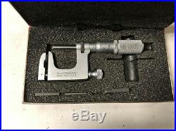 MACHINIST LATHE MILL Starrett 220 Anvil Pin Micrometer Gage & Anvils GrnCb