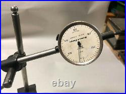 MACHINIST LATHE MILL Starrett Magnetic Base with Brown Sharpe Indocator Gage Grn