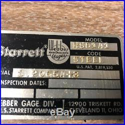 MACHINIST LATHE MILL Starrett Webber Gage Block Set R581A1