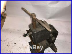 MACHINIST LATHE MILL Unusual HEAVY Bench Top Tapping Tap Fixture Machine Bsmnt