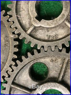 MACHINIST LATHE TOOLS MILL Large Lot of Atlas Craftsman Lathe Gears BkCs