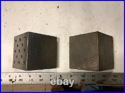 MACHINIST LATHE TOOL MILL 2 Set Up Angle Blocks Fixtures Plates DrW