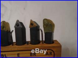 MACHINIST LATHE TOOL MILL Borite Carbide Insert Lathe Tool Set in Holder