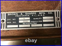 MACHINIST LATHE TOOL MILL Machinist Brown & Sharpe Gage Block Set in Case ShB