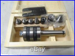 MACHINIST LATHE TOOL MILL Machinist Live Center Set with Inserts in Case