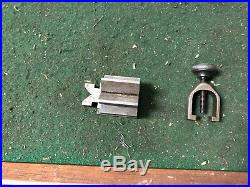 MACHINIST LATHE TOOL MILL. RARE Micro Unusual Jewelers V Block and Clamp ShK