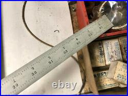 MACHINIST LATHE TOOL MILL Starrett 16R Grad Satin Combination Ruler Scale OkCb