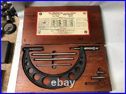 MACHINIST LATHE TOOL MILL Starrett Micrometer Gage Set B 6 9 TpOkCb