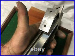MACHINIST MILL LATHE MILL Machinist Brown & Sharpe Planer Gage in Wood Case BkCs